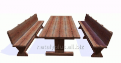 Production of garden furniture and furniture for a