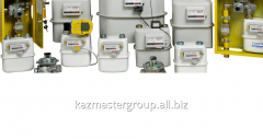 Installation of membrane counters of gas