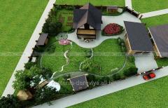 Ландшафтный дизайн: зонирование, 3D