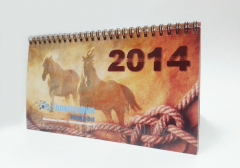 Press of desktop calendars