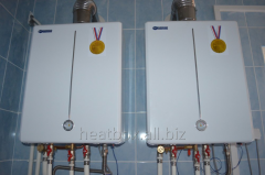 Installation and repair of coppers of heating it