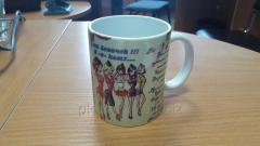Drawing on a mug