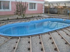 Construction of pools, baths, fountains, saunas.