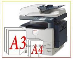 Service photocopy of documents