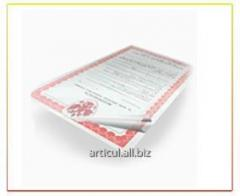 Service lamination of documents of any forma