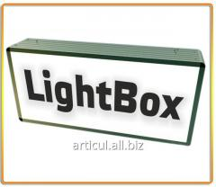 Production of outdoor advertizing light with with luminescent lamps