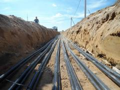 Laying of cable lines