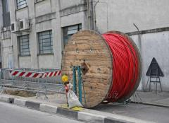 Laying of the power cable