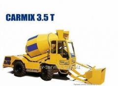 Rent of a betonosmesitel of carmix 3.5