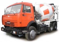 Rent of a betonosmesitel KamAZ