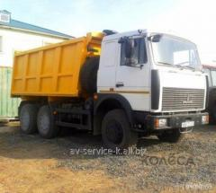 Lease of the truck maz 1
