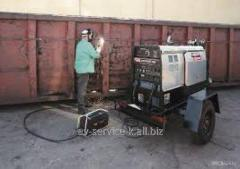 Rent of the diesel welding lincoln electric