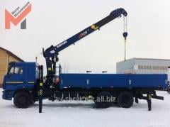 Rent of the manipulator the crane by isuzu truck