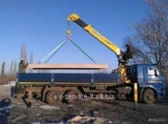Rent of the manipulator the crane by iveco truck