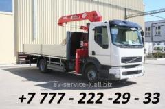 Rent of the manipulator the crane by iveco euro