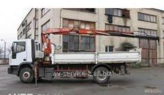 Rent of the manipulator the crane by iveco