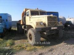 Rent of the lorry kraz 255 pletevoz q of pipes and