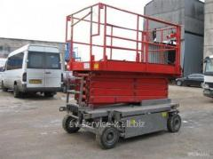 Rent of the self-propelled elevator haulotte h960e