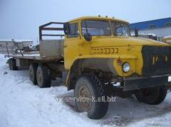 Rent trailers the Urals 4320 with the 12th meter