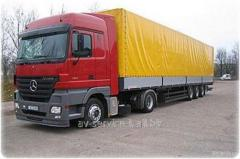 Rent of the truck tractor with the semi-trailer a