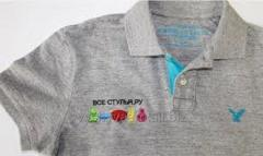 Embroidery on t-shirts from IP Hodzhamberdiyev R.