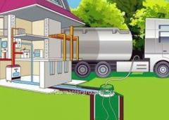 Autonomous gasification of the private house to