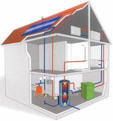 Works on gasification of private houses