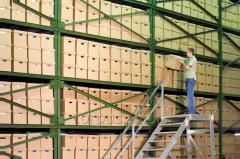 Services in storage of documents from CORPUS