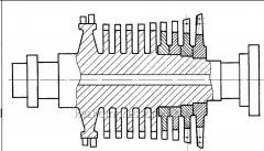 Production of spare parts of steam turbines