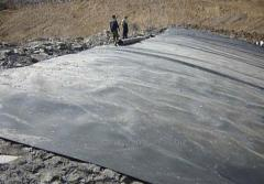 Waterproofing of parkings from a geomembrane