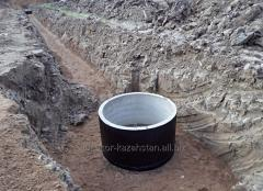 Waterproofing of wells from a geomembrane