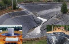 Creation of artificial ponds from a geomembrane