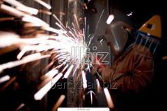 Welding of a metalwork