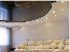 Установка и дизайн натяжных потолков многоуровневых модель 4