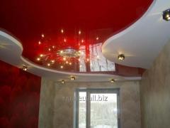 Установка и дизайн натяжных потолков многоуровневых модель 7