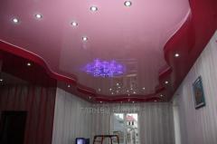 Установка и дизайн натяжных потолков многоуровневых модель 8
