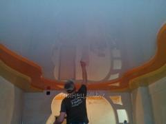 Установка и дизайн натяжных потолков многоуровневых модель 9
