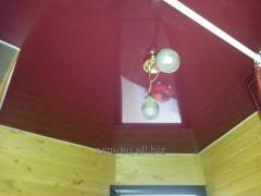 Монтаж глянцевых натяжных потолков модель 2