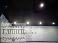 Монтаж глянцевых натяжных потолков модель 4