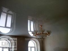 Монтаж глянцевых натяжных потолков модель 11