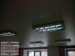 Установка матового натяжного потолка модель 5