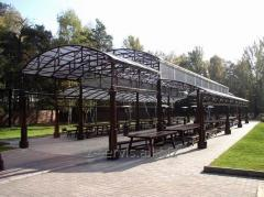 Production of canopies from metal