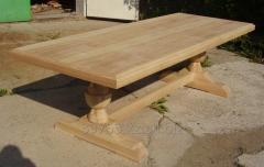 Изготовление столов из дерева