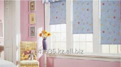 Photo printing on blinds in a nursery