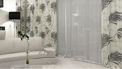 Photo printing on curtains in a drawing room