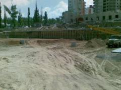 Services in construction of protections of ditches