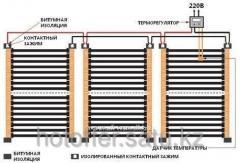 Mounting of underfloor heating