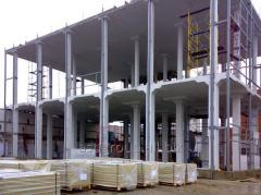 Installation of combined reinforced concrete