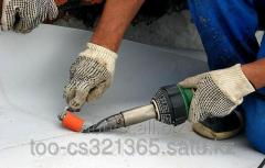 Waterproofing of a flat roof of PVC Membrane of