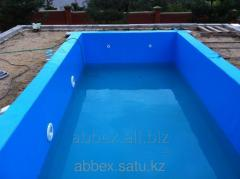 Installation of pools of PVC Membrane